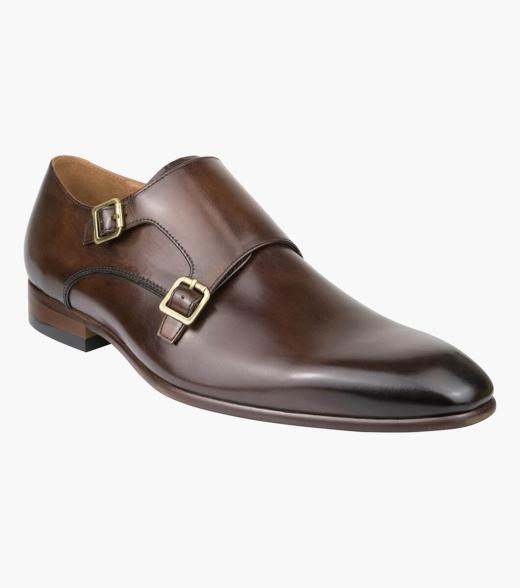 Flicker Plain Toe Double Monk Strap
