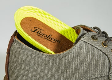 Fully cushioned, removable footbed offers all-day comfort.